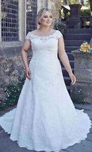 f0490c1d86 New White Ivory Plus Size Wedding Dress Bridal Gown Custom 16 18 ...