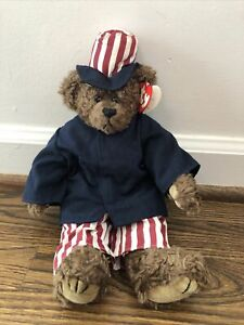 1993 Vintage Beanie Baby 4th Of July Independence Day Uncle Sam Patriotic Bear