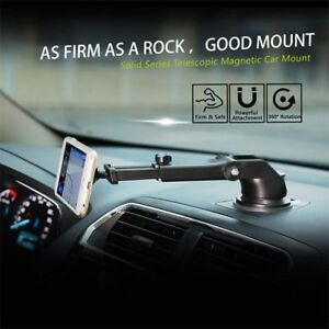 Rotating-360-Magnet-Telescopic-Mount-Car-Dash-Phone-GPS-Holder-Bracket