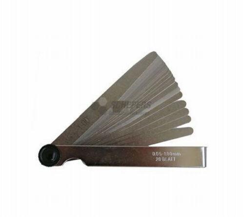 20 Blatt 0,05-1,0mm Präzisions Fühlerlehren 13083