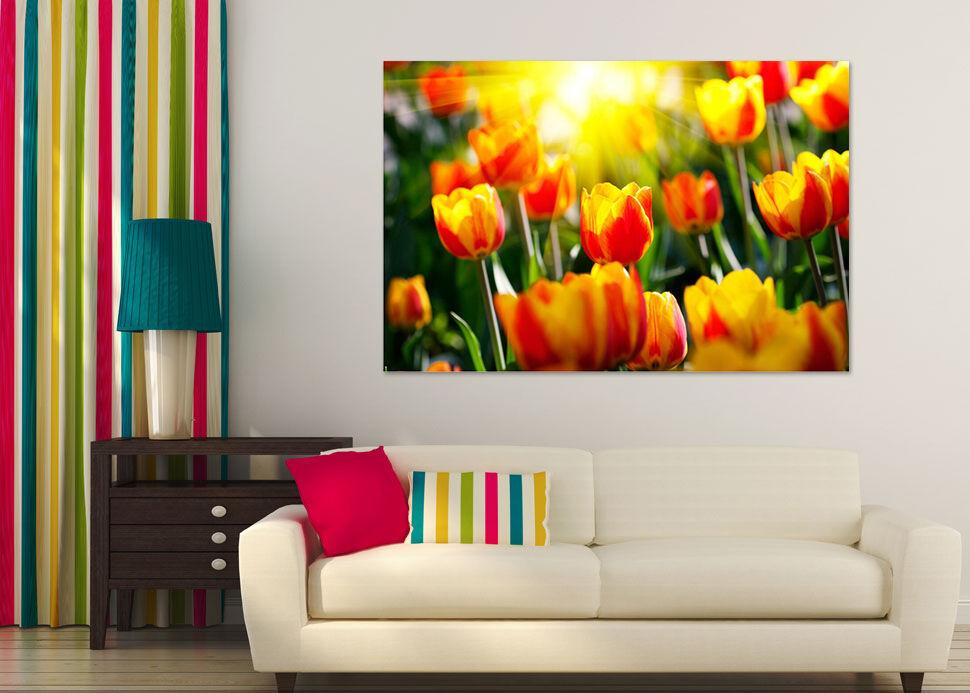 3D Gelbe Tulpen 765 Fototapeten Wandbild  BildTapete Familie AJSTORE DE