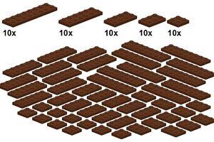 Lego-Bricksy-039-s-Bascis-Reddishbrown-B31-Platten-neues-braun-breit