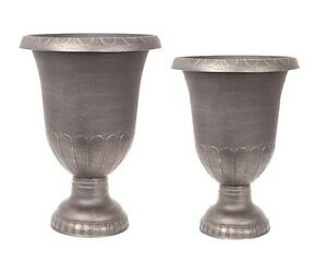 CHAMPAGNE-Large-Plant-Pots-Outdoor-Garden-Patio-Urn-Stand-Round-Tall-Planters