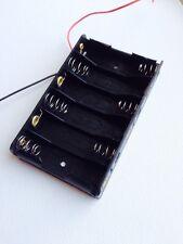 New Plastic 6 X 1.5V AA 2A CELL Battery Holder Storage Box standard 9V Case