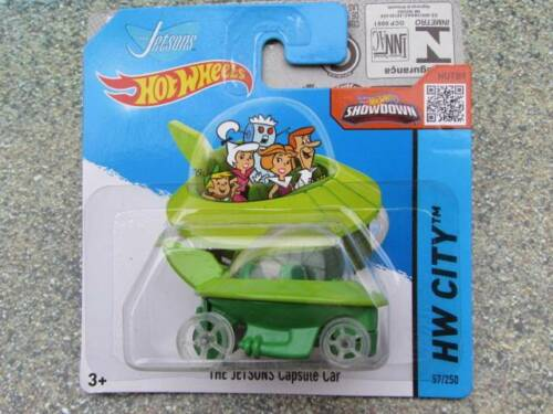 Hot Wheels 2015 #057//250 the JETSONS CAPSULE CAR green HW CITY CASE D
