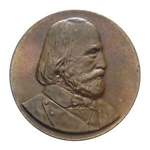 IngéNieux Medaglia Coniata Il 1898 A Buenos Aires Posa Prima Pietra Monumento A Garibaldi Faire Sentir à La Facilité Et éNergique