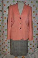 2 Pc Size 8 Carlisle sachet Jacket Suit Eccoci Skirt Coral Glen $