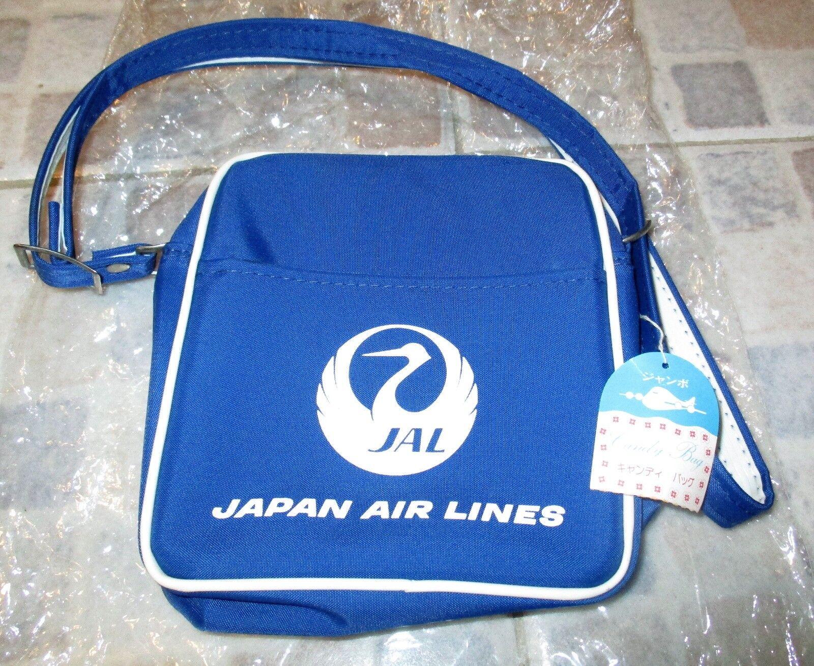 Vintage JAL Japan Air Lines Small Travel Bag Candy Bag Shoulder Bag Mint