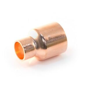 NEW END FEED copper plumbing pipe 22mm x 15mm REDUCER reducing coupler F  X F