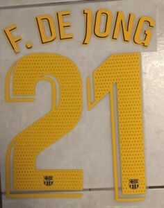 Flocage Nameset F. DE JONG #21 Barca 2019-2020 Domicile. La Liga