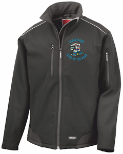 SCANIA KING of ROAD Embroidered personalised unisex softshell Result R124X jacke
