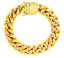 thumbnail 11 - Cuban-Link-Bracelet-18KT-Gold-Plated-Stainless-Steel-Open-Box-Clasp-Mens-Jewelry