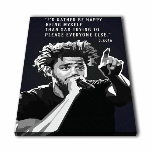 Rapper J Cole B/&W Quotes Print Painting Picture Wall Art Canvas Home Décor