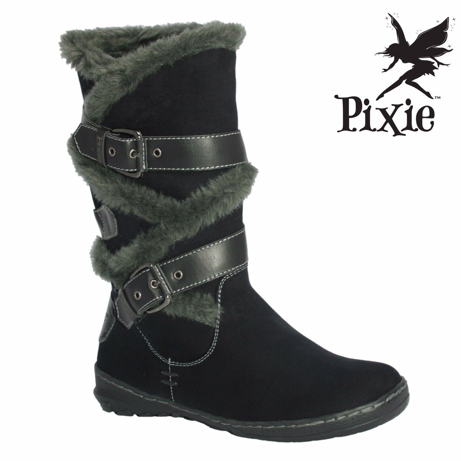 Pixie calzado Amy Damas Botas. UK Tamaños 3 - 8 Nuevo En Caja