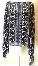7f49eaf0 item 3 Vince Camuto Womens Blue Nairobi Graphic Flowy Poncho Top Blouse XS  BHFO 6163 -Vince Camuto Womens Blue Nairobi Graphic Flowy Poncho Top Blouse  XS ...