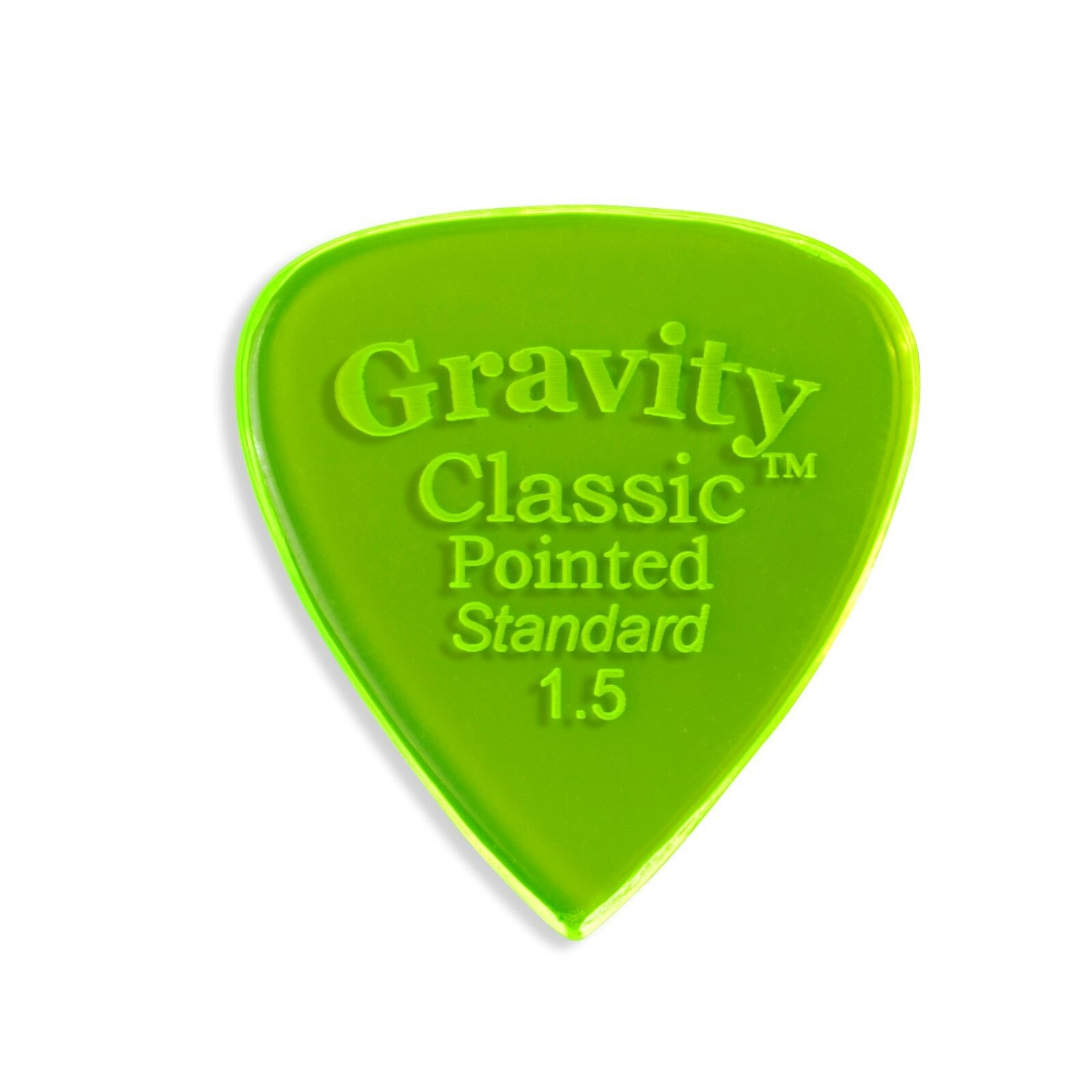 Gravity Pick - Classic Classic Classic Pointed 1.5mm Standard Polished - Lot of TEN picks 83a137