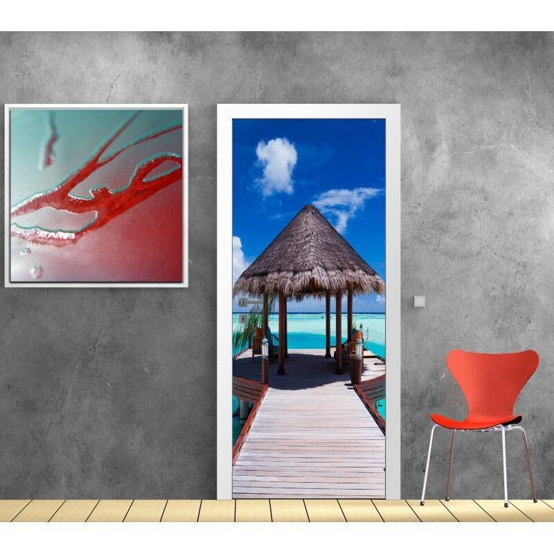 Plakat Plakat Format Tür die Maldives 745 Kunst Deco Aufkleber