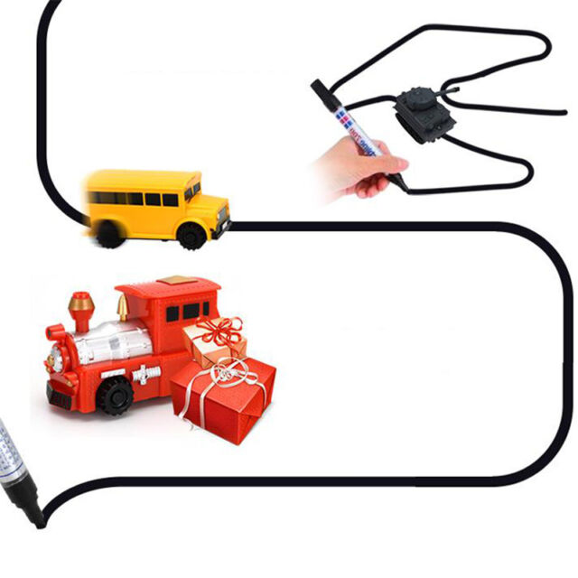 magic mini inductive toy car model series follow any line you draw
