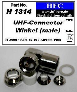 1-Stueck-UHF-Winkelstecker-fuer-Ecoflex-10-Aircom-Plus-H-2000-Flex-50-H1314