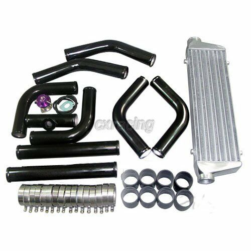 "BOV + TURBO INTERCOOLER PIPING KIT For 240SX KA24DET SR20DET 28""x7""x2.5"""