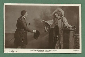 1906-RP-POSTCARD-THEATRICAL-SCENE-JULIA-NEILSON-FRED-TERRY-J-BEAGLES-CO
