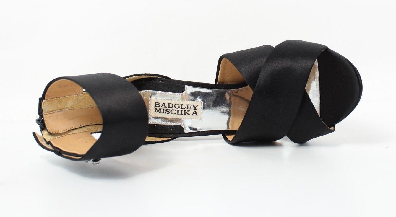 P    Badgley Mischka  Kassie  Blank Satin Ankle Strap Stilletto NEW Taille 7 ANB 5e8dba