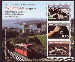 100% De Qualité La Nouvelle Zélande 2003 Welpex 2003 Stampshow Miniature Sheet Fine Utilisé Confortable Et Facile à Porter