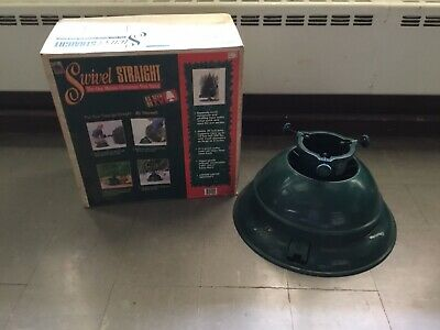 SWIVEL STRAIGHT GREEN ADJUSTABLE CHRISTMAS TREE STAND ...