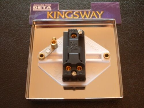 1 Gang 2 Way Chrome Poli 6 A Interrupteur De Lumière DETA kingway