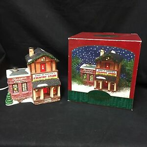 Dick-Dottie-039-s-Country-Store-Christmas-Valley-Village-Lighted-Porcelain-Building