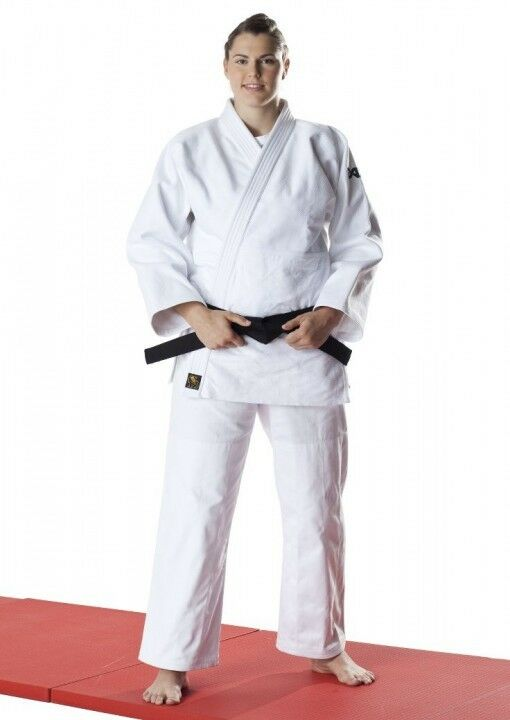 Dax Sports JUDOANZUG, DAX TORI Gold, WEIß. Judo. Wettkampf. zugel. 780 g m².