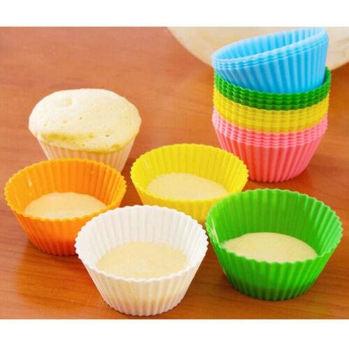 6PCS Silicone Cake Cupcake Cup Cake Tool Bakeware Baking Silicone Mold CupcaHFJO