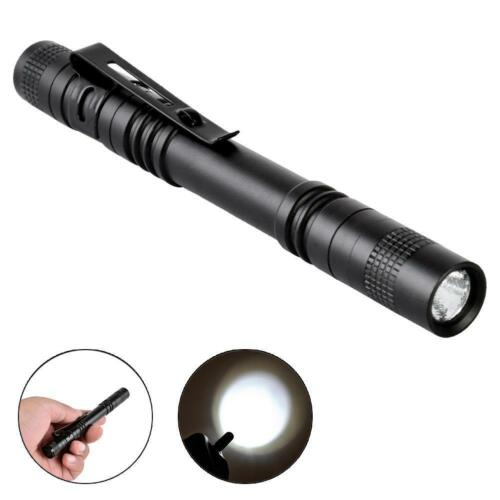 Q5 LED Tactical Flashlight 8000 Lm Bright Torch Lamp Pen Light With Clip T/&