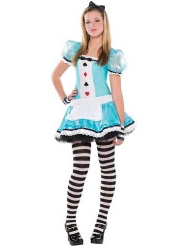 Teen intelligente Alice nel paese delle meraviglie Costume Ragazze Libro Giorno Costume Età 10-16