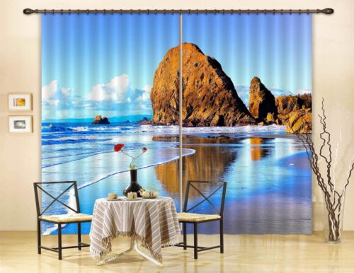3D Sea View 015 Blockout Photo Curtain Printing Curtains Drapes Fabric Window AU
