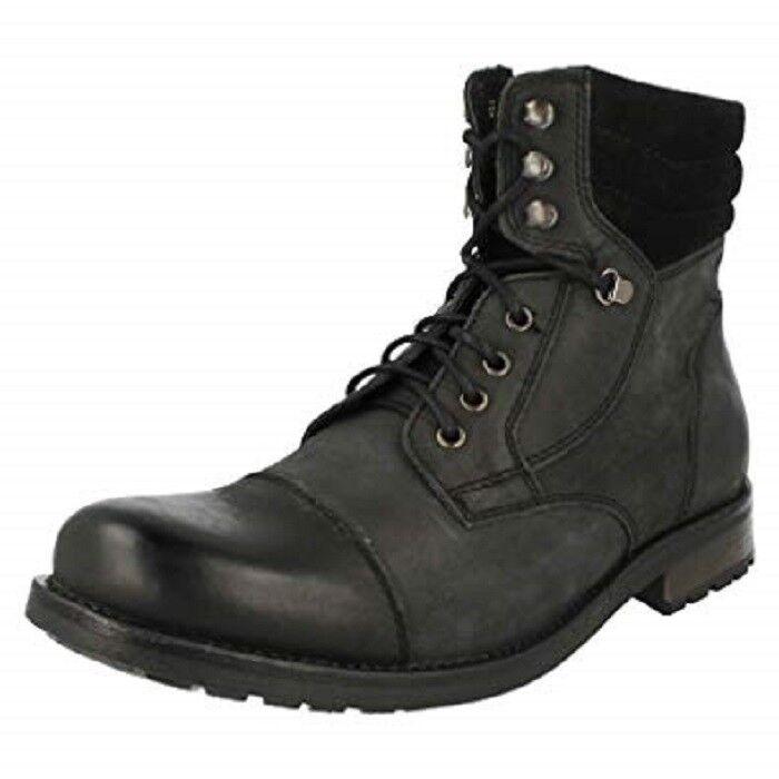 Clarks botas Hombre Russett Gorra Negra