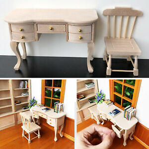 1-12-Scale-Dollhouse-Miniature-Furniture-Wooden-Chair-Dolls-House-Accessories