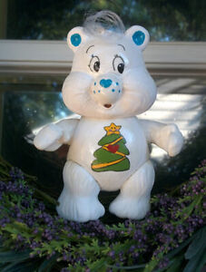 CUSTOM-Made-from-Vintage-3-034-Poseable-Care-Bear-Poseable-CHRISTMAS-WISHES