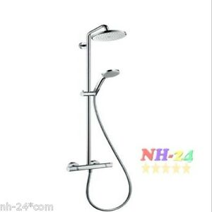 hansgrohe thermostat showerpipe croma 220 mm hans grohe douche 27185 27185000 ebay. Black Bedroom Furniture Sets. Home Design Ideas