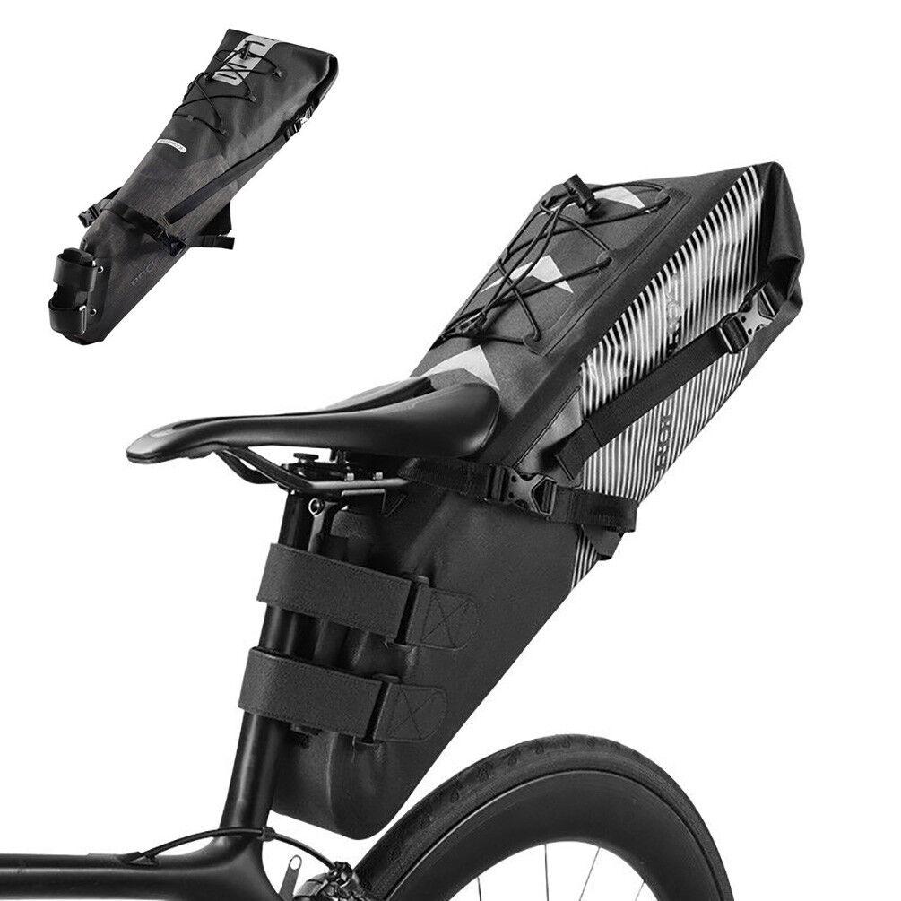 RockBros Waterproof MTB bicicletta bicicletta Seat Saddle borsa ciclismo Rear Tail Pack borsa