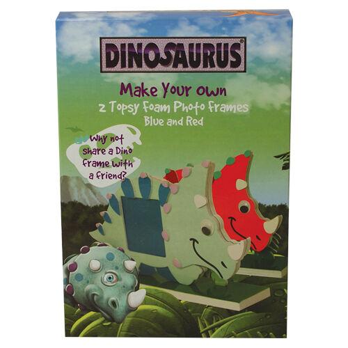 grand enfant idée cadeau Faites votre propre pack de 2 dinosaure en mousse cadre photo
