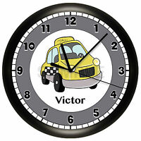 Taxi Cab Driver Wall Clock Personalized 10 Inch Car Gift Cabbie
