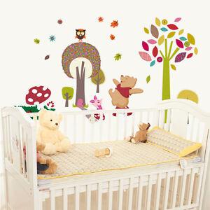 Winnie The Pooh Tree Owl Tree Removable Wall Stickers Decal Kids Nursery Decor Ebay