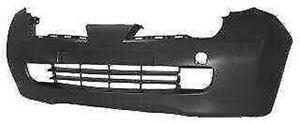 Plaque Pare-Chocs Avant Pour Nissan Micra 2003 De 2005 Noir Trous Feu Brouillard