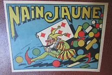 ANTIQUE FRENCH PLAYING CARDS BOARD GAME NAIN JAUNE (YELLOW DWARF) COMPLETE c1930