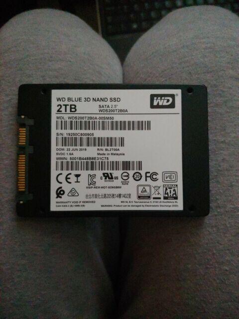 WD 2TB Blue 3D NAND SATA III 2.5