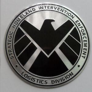 Avengers-Agent-of-SHIELD-Badge-Chrome-Metal-Car-Emblem-Sticker-Decal