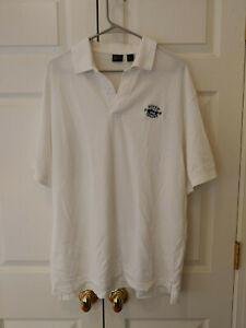Men-White-Squaw-Valley-Polo-Short-Sleeve-Golf-Shirt-Size-XL