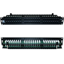 "QUALITY AT 48 Port/Way CAT5e Ethernet Patch Panel-2U 19"" Rack Mount-RJ45 Networ"