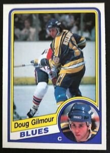 1984-85-O-PEE-CHEE-185-Doug-Gilmour-St-Louis-Blues-ROOKIE-CARD-Ungraded